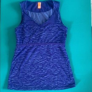 Euc Lucy workout tank blue small